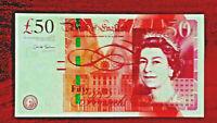 AA PREFIX -  Great Britain[England] 50 pounds GEM UNC SIGN. CHRIS SALMON
