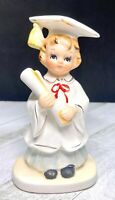 Vintage Lefton 60's Porcelain Girl Graduate Figurine - 4062 Red Label Japan
