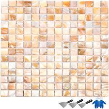 12 Pezzi Piastrella e Mosaico In Madreperla 300*300*2mm Ecologico Naturale