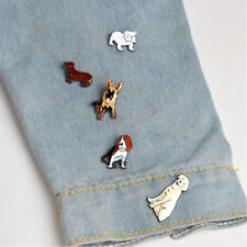 5 Pcs/Set Cute Dog Enamel Brooches Denim Jacket Pin Badges Fashion Jewelry
