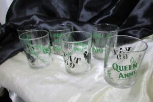 6 WHISKEY BRANDED GLASSES