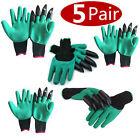 Gardening Genie Gloves Digging 4 Plastic Claws Garden Polyester Gloves
