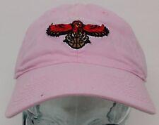 Atlanta Hawks NBA Womens Pink Slouch Hat Cap NWT Adjustable Strap Curve Bill Os