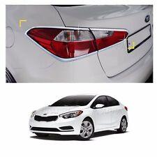 Rear Tail Light Lamp Trim Cover Chrome Molding For Kia Forte/Cerato 2014-2016