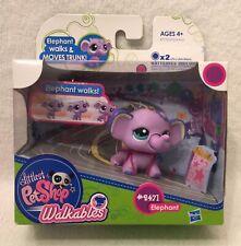 Littlest Pet Shop Walkables Purple Elephant #2471 Hasbro New in Box LPS