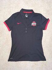 Nike Ohio State University Polo Women's Medium OSU Buckeyes Black M
