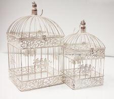 Rustic Square Birdcage Set of 2 - Dt1002 Wedding Decor Centrepiece Home Garden