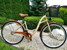 "28"" City Bike Ladies Town Hybrid Dutch Vintage Women Cycle With Basket NO LOGO"