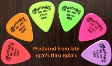 Vintage Guitar Picks - 6 Martin & Co. Neon Picks Full Set All Gauges