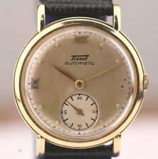 14k solid gold TISSOT VINTAGE MEN WATCH SWISS BUMPER AUTOMATIC MOVEMENT 17 JEWEL