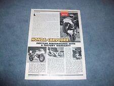 "1994 Honda CBR900RR Vintage Road Test Info Article ""Indy Car Performance..."""