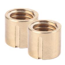 Brass Bridge Milling Machine Parts 2pcs X Axis Longitudinal Feed Nut Keyway 5mm