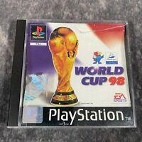 World Cup 98 PS1 PlayStation 1 PAL Game Boxed EA Sports Football