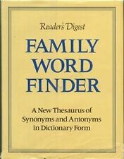 Family Word Finder: A New Thesaurus of Synonyms an