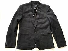 G By Guess Men's Regular Blazer In Black Construction Size M