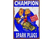 NEW Champion Youth Large Tin Metal Sign