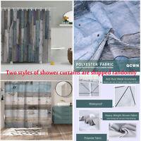 Rustic Wooden Barn Door Western Shower Curtain Bath Curtain Waterproof Fabric