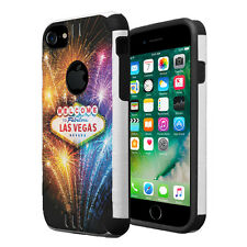 Dual Layer Armor Combat Case for iPhone 7 6s 6 - Las Vegas Fireworks