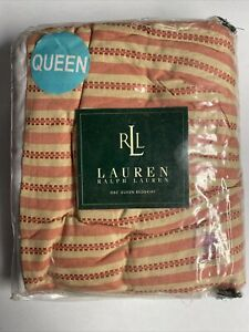 NEW Ralph Lauren QUEEN Bedskirt HAWK SPRINGS Red Stripe