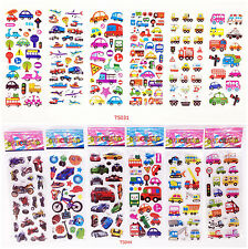 Stereoscopic 3D children's cartoon card / cognitive learning stickers 12pcs /lot