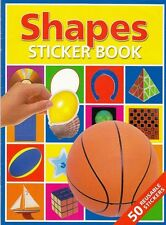 Shapes Sticker Book - 50 Reusable Stickers - Match to Pictures - Paradise Press