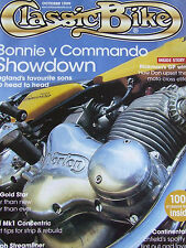 THE CLASSIC BIKE OCT 1999 BONNIE v COMMANDO RICKMAN GP BSA GOLD STAR BSA A65