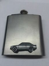Ford Escort MK3 ref319 Pewter Effect Car on a 6oz Stainless Steel Hip Flask