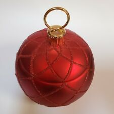 Christmas Flower Vase. Red Ornament With Gold Detail. Decorative Or Gift Holder