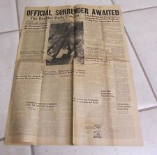 August 14 1945 The Boulder Daily Camera Newspaper WWII Hiroshima Bomb Photos