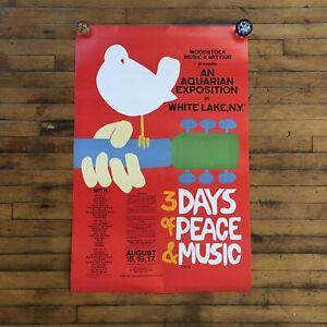 Vintage original 1969 Woodstock Music & Art Fair  Poster by Arnold Skolnick