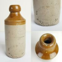 Antique Stoneware Ginger Beer Bottle James Howard Ardwick Horse Pictorial 7""