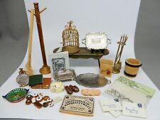 Vintage Dollhouse Accessories Lot 3 Dollhouse Miniature 1:12