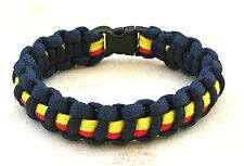Police SVC Para Cordon Militaire Weave Bracelet avec Toboggan Fermoir Thin Blue Line