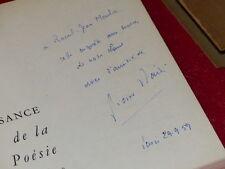 [Bibl.R-JEAN MOULIN ART XXe] PIERRE DAIX / POESIE FRANCAISE MOYEN AGE 1958 Signé