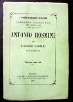 Biografia - Contemporanei Italiani Antonio Rosmini 1861 - con ritratto