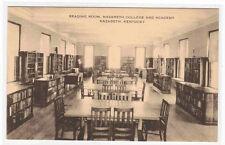 Reading Room Interior Nazareth College Academy Kentucky postcard