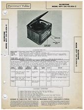 Original Photofact Silvertone Radio Turntable Power Shiftier Schematic