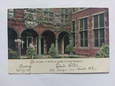Antwerp(Anvers) Belgium Vintage colour Postcard 1905 Museum Plantin-Moretus