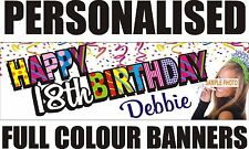 PERSONALISED PVC BIRTHDAY BANNERS (6FT X 2FT) 18TH 21ST 40TH 50TH 60TH WEDDING