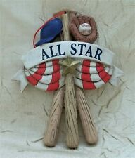 All Star Baseball Resin Christmas Ornament Sports Holiday New