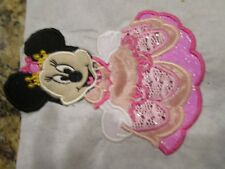 Iron on embroidered applique- Princess Minnie Mouse- Disney 5 in.-choose colors