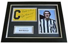 Bob Moncur Signed FRAMED Captains Armband Photo A4 Display Newcastle Utd & COA