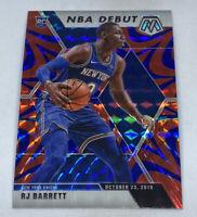 2019 20 RJ Barrett Mosaic Blue Reactive Prizm Rookie NBA Debut #270 NY Knicks