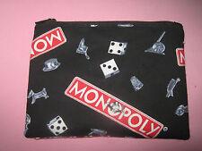 GAME PIECE BAG-Cloth Zipper Pouch-Make Up Bag-Stash Bag-Handmade