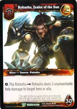 WOW Rohashu Zealot of the Sun THRONE 18/202 FOIL WORLD OF WARCRAFT ENG RARE MINT