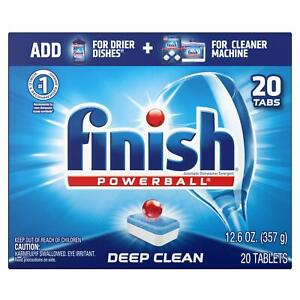 Finish All in 1 Powerball Fresh 20ct Dishwasher Detergent Tablets