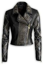 NWT Versace hm H&M Leather Studded Jacket WMN + Orig. hanger & garment bag Sz34