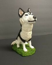 Siberian Husky Dog Figurine Statue Pet Puppy Hand Painted Resin Collectible New