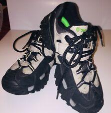 TEVA Boys 6628 Quest Trail Hiking Shoes Boots Black Cream Size 4.5 EUC