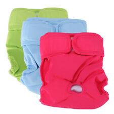 3 PCS Reusable Washable Dog Diapers Dog Wraps for both Male and Female Dogs S-XL